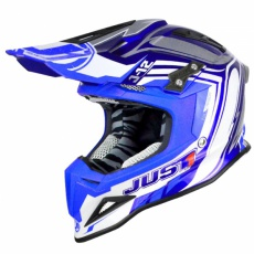 Moto přilba JUST1 J12 FLAME modrá