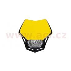 UNI přední maska včetně světla V-Face, RTECH (žluto-černá)