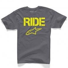 Alpinestars tričko RIDE solid šedé - Charcoal