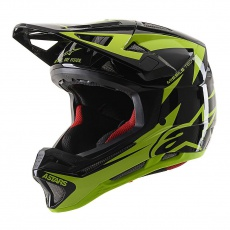 Alpinestars Missile TECH Airlift MIPS helma - Black Yellow Fluo