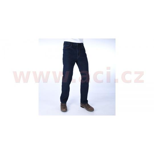 ZKRÁCENÉ kalhoty Original Approved Jeans volný střih, OXFORD, pánské (modrá)