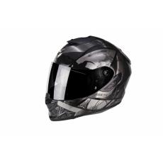 Moto přilba SCORPION EXO-1400 AIR PATCH černo/stříbrná