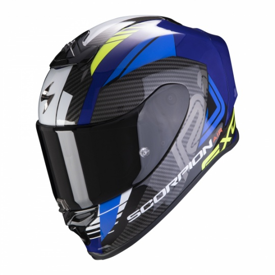 Moto přilba SCORPION EXO-R1 AIR HALLEY modro/neonově žlutá