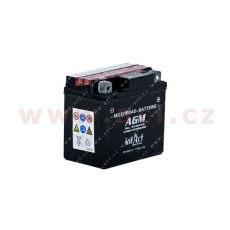 baterie 12V, YTX5 l-BS, 4Ah, 80A, BANNER Bike Bull AGM 114x71x106