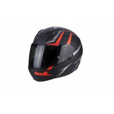 Moto přilba SCORPION EXO-390 HAWK matná černo/neonově červená