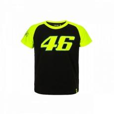Dětské triko Valentino Rossi VR46 DOCTOR černo/žluté 308204