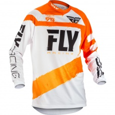 dres FLY RACING - USA dětský Orange/White