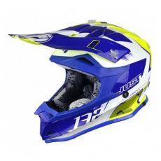 Dětská moto přilba JUST1 J32 PRO KICK bílo/modro/žlutá