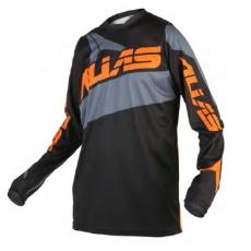 Motokrosový dres ALIAS MX A2 černo/šedý 2160-326
