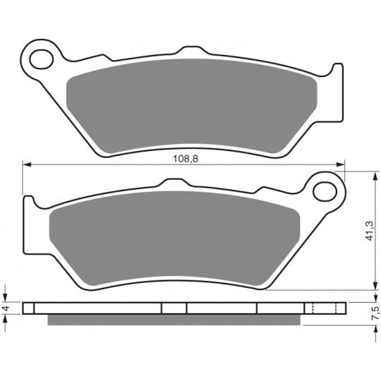 brzdové desky GOLDFREN 106 S3