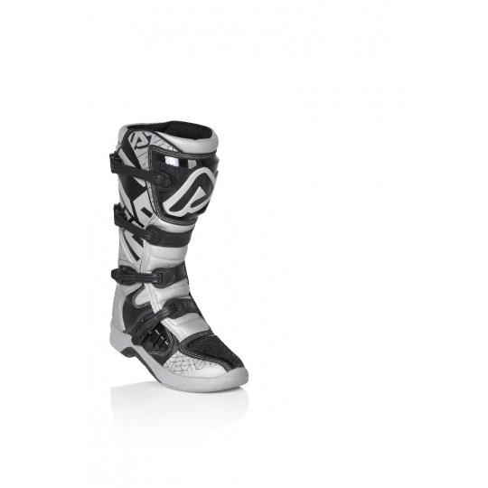 ACERBIS motokrosové boty X Team stříbrná/černá 44stříbrná/černá
