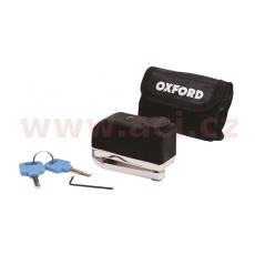 zámek kotoučové brzdy SCREAMER, OXFORD (integrovaný alarm, chromový)