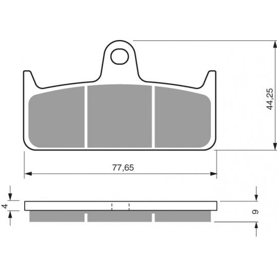 brzdové desky GOLDFREN 301 GP4