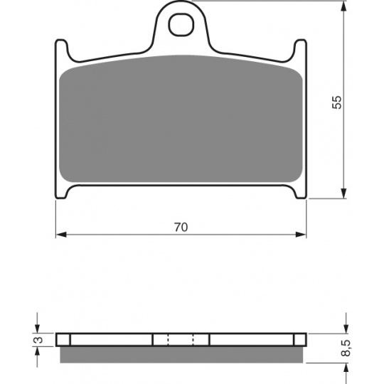 brzdové desky GOLDFREN 017 S33