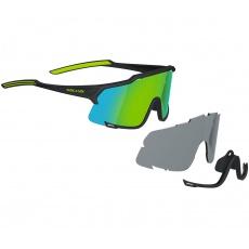 KELLYS Sluneční brýle DICE Photochromic, Shiny Black-Lime