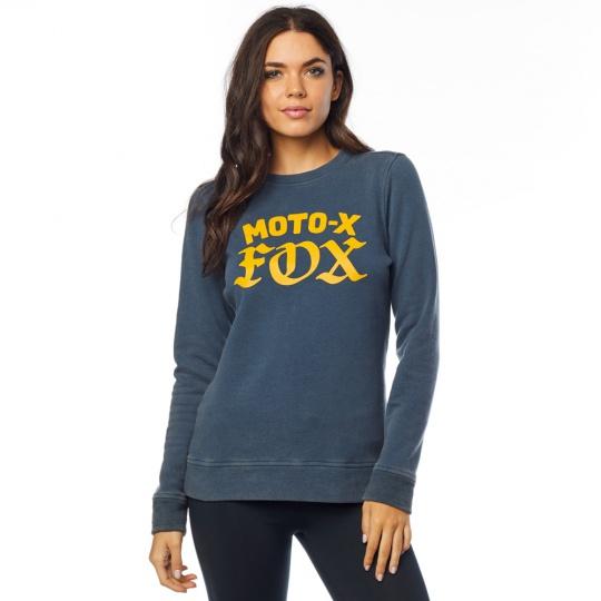 Dámská mikina Fox Moto X Crew Fleece Navy