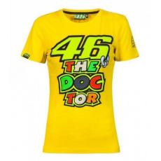 Dámské triko Valentino Rossi VR46 žluté 205501