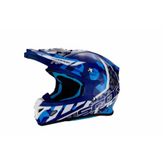 Moto přilba SCORPION VX-21 AIR FURIO modro/bílá