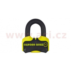 zámek kotoučové brzdy Boss 16, OXFORD (žlutý/černý, průměr čepu 16 mm)