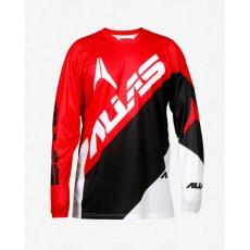 Motokrosový dres ALIAS MX A2 BLOCKED červeno/černý 2164-296
