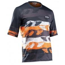 Pánský cyklo dres Northwave Xtrail Jersey Short Sleeve Mtb Man Blk/Orange/Whit
