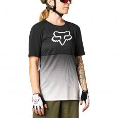 Dámský dres Fox W Flexair Ss Jersey Black/Pink