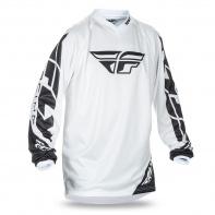 dres UNIVERSAL, FLY RACING - USA (bílá/černá)