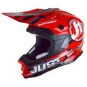 Moto přilba JUST1 RAPTOR červená