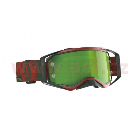 brýle PROSPECT LIMITED SIX DAYS 19 PORTUGAL, SCOTT (červené/zelené, zelené chrom plexi s čepy pro slídy)