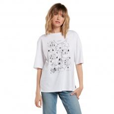 Dámské triko Volcom Briand Fa Ss White