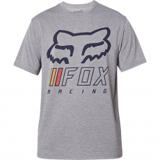 Pánské triko Fox Overhaul s Tech Tee Heather Graphite