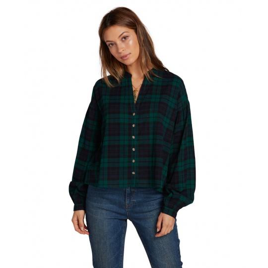 Dámská košile Volcom Untamed Feels Top Green