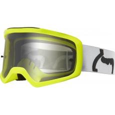 Dětské MX brýle Fox Yth Main II Pc Prix Goggle Grey - Polycarbonate Lens