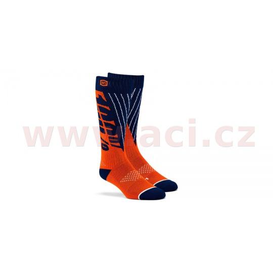 ponožky TORQUE 100% (modrá/oranžová)
