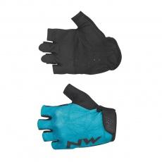 Dámské rukavice Northwave Flag 3 Woman Short Gloves Blue Surfer