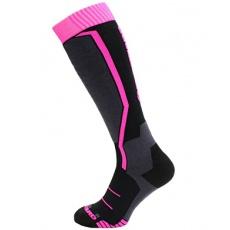 lyžařské ponožky BLIZZARD Viva Allround ski socks junior, black/anthracite/magenta