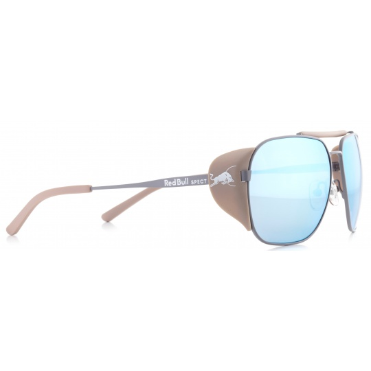 sluneční brýle RED BULL SPECT Sun glasses, PIKESPEAK-006P, light grey, beige, brown gradient with light blue mirror POL, 59-14-138