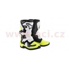 boty TECH 3S KIDS 2022, ALPINESTARS, dětské (černé/žluté fluo/bílé)