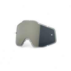 RACECRAFT/ACCURI/STRATA - Silver Mirror/Smoke Anti-Fog Injected Replacement Lens