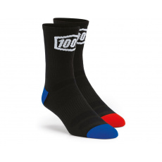 MTB ponožky 100% Terrain Socks Black