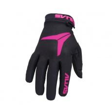 Dětské motokrosové rukavice ALIAS MX AKA černo/neonově růžové 2831-369