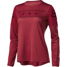 Dámský dres Fox Womens Flexair Ls Fine Line Jersey Cardinal