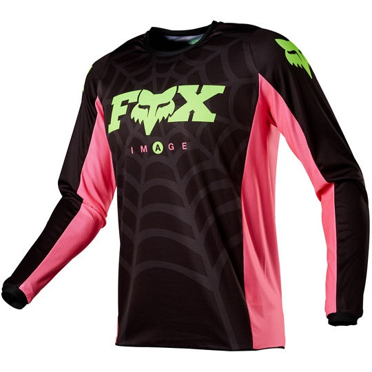 Pánský MX dres Fox 180 Venin Jersey Black (prodejný pouze včetně kalhot)