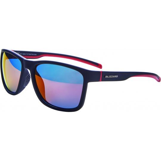 sluneční brýle BLIZZARD sun glasses POLSF704130, rubber black, 63-17-133