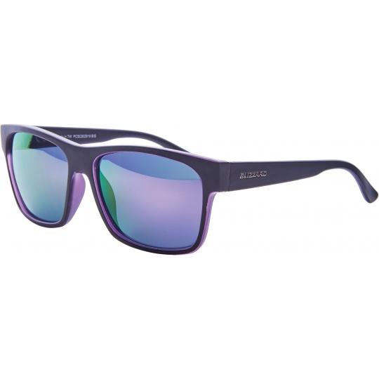sluneční brýle BLIZZARD sun glasses PCSC802919, trans. purple mat/outside black mat, 64-17-143