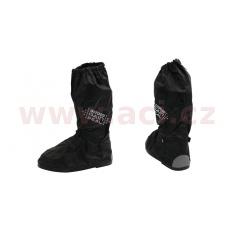 návleky na boty RAIN SEAL s reflexními prvky a podrážkou, OXFORD (černá)