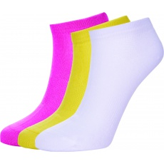 ponožky AUTHORITY Ankle Socks 3pck, pink, white, yellow