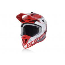 Acerbis motokros přilba LINEARčervená/bílá