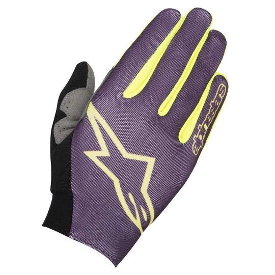 Alpinestars Aero rukavice Purple Acid Yellow
