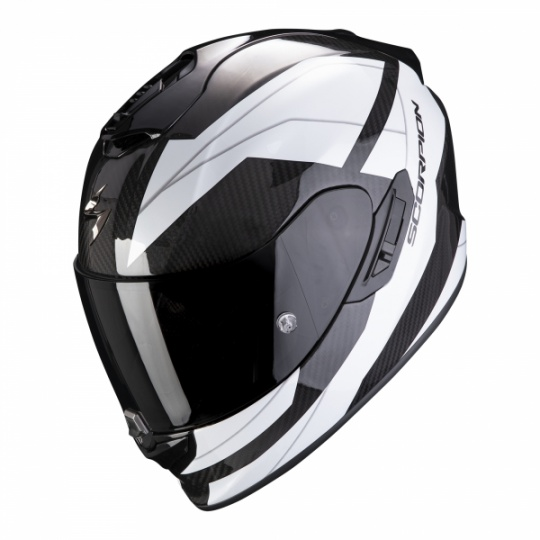 Moto přilba SCORPION EXO-1400 CARBON AIR LEGIONE bílá